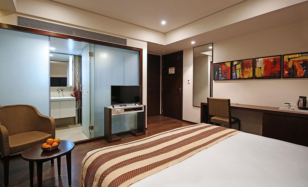 Premium Room at Gandhinagar Hotel German Palace near Gandhinagar Ahmedabad Airport, Meeting Conferences, Luxurious Room, Banquet Corporate Halls, Veg Non Veg Restaurant,